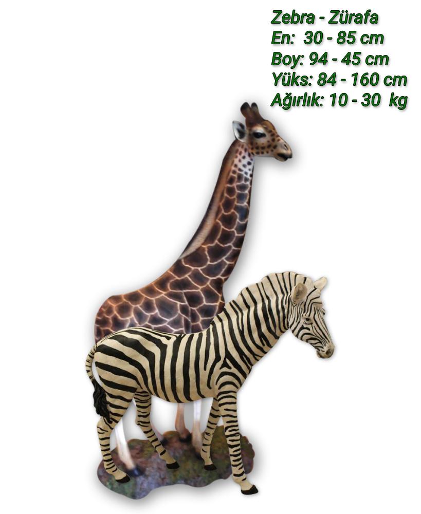 zebra-zurafa-heykeli